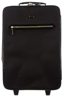 Anya Hindmarch Leather-Trimmed Nylon Suitcase