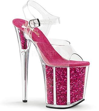 Pleaser USA Women's Flam808g/Cforwardslashhp Platform Sandal