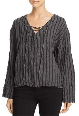 Bella Dahl Bell-Sleeve Lace-Up Top
