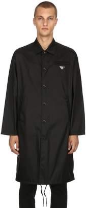 Prada Nylon Gabardine Trench Coat