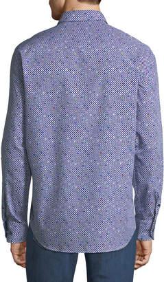 Bugatchi Classic-Fit Long-Sleeve Dots Sport Shirt
