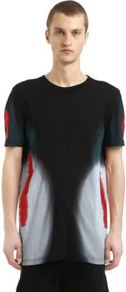 11 By Boris Bidjan Saberi Distortion Print Cotton Jersey T-Shirt
