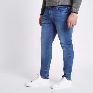 River Island Mens Big and Tall Blue Sid skinny jeans