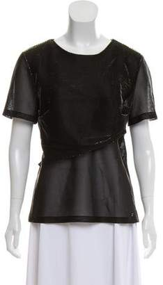 Chanel Metallic Short Sleeve Top