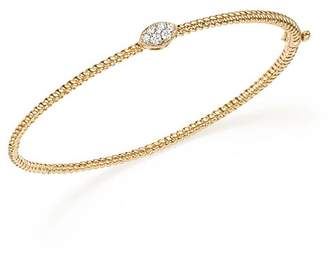 Bloomingdale's Diamond Twisted Bangle in 14K Yellow Gold, .15 ct. t.w. - 100% Exclusive