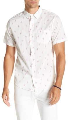Public Opinion Flamingo Print Regular Fit Shirt