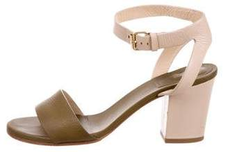 Chloé Bicolor Ankle Strap Sandals