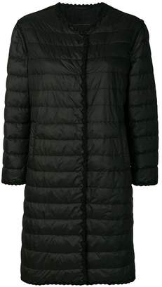 Ermanno Scervino crochet trim padded coat