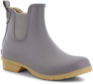 Western Chief Womens Rain Boots Waterproof Fleece Lined Flat Heel Pull-on Wide Width