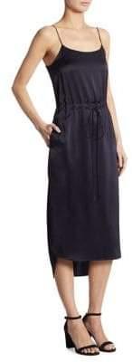 DKNY Shirttail Slip Dress