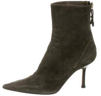 Jimmy Choo Suede Pointed-Toe Ankle Bootts