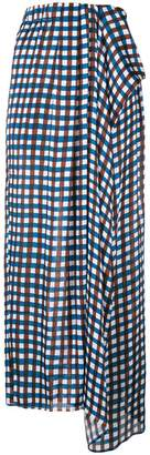 Christian Wijnants checkered draped skirt