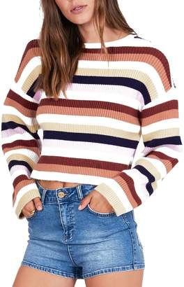 Amuse Society Bahia Stripe Crop Sweater