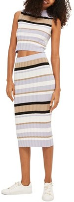 Women's Topshop Stripe Knit Midi Skirt $60 thestylecure.com