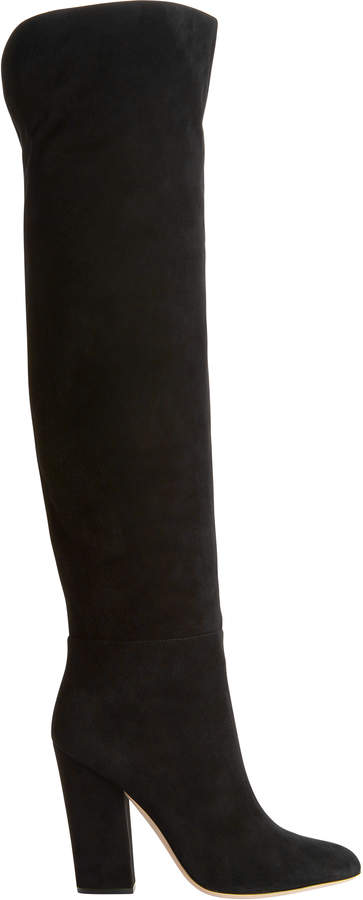 Sergio Rossi Virginia Suede Over-The-Knee Boots