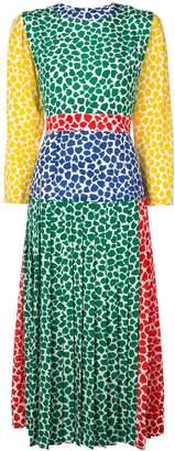 Rixo patterned pleat dress