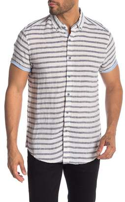 Report Collection Horizontal Stripe Short Sleeve Shirt