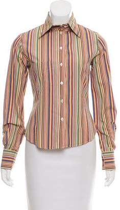 Paul Smith Striped Button-Up Top