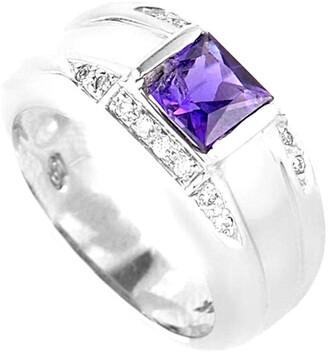 Diamond Select Cuts 14K .33 Ct. Tw. Diamond & Amethyst Ring