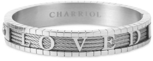 Charriol 4Ever Loved Bangle Bracelet in Stainless Steel