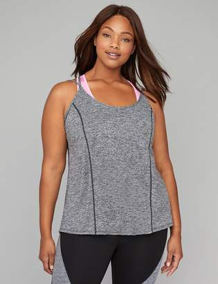 at Lane Bryant · Wicking Envelope-Back Active Tank with Low Impact Sport Bra bdf9a27e4