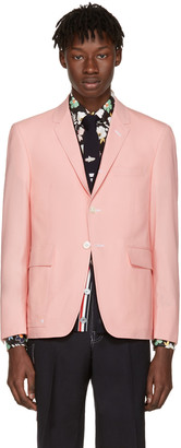 Thom Browne Pink Constructed Square Pocket Blazer $1,390 thestylecure.com