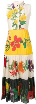 Carolina K. floral print maxi shirt dress