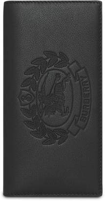 Burberry Embossed Crest Leather Continental Wallet