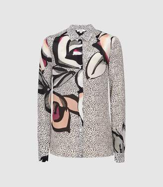Reiss Hayley - Large Scale Floral Printed Shirt in Multi