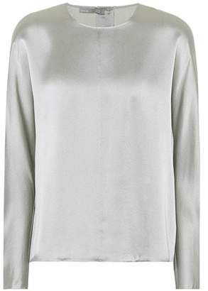 Vince Metallic silk top