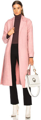 Victoria Beckham Soft Felt Side Panel Slim Coat