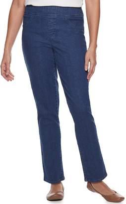 Croft & Barrow Women's Comfort Waist Pull-On Straight-Leg Jeans
