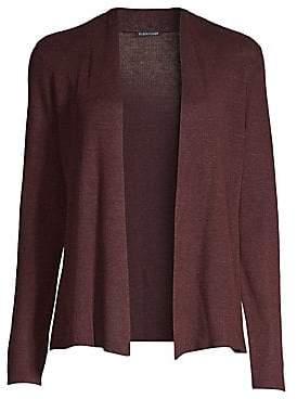 Eileen Fisher Women's Organic Linen Open-Front Cardigan