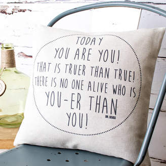 Dr. Seuss Vintage Designs Reborn 'Today You Are You' Cushion Cover