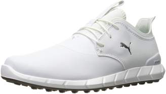 Puma Golf Men's Ignite Spikeless PRO Golf Shoe, White/Silver