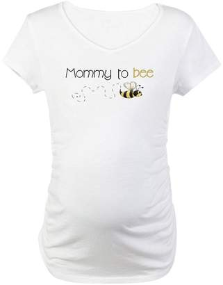 CafePress - Mommy To Bee - Cotton Maternity T-shirt, Cute & Funny Pregnancy Tee