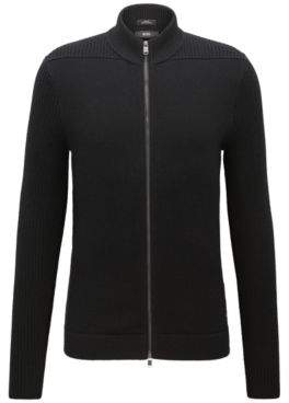 HUGO BOSS Cotton-Wool Full-Zip Jacket Picetti M Black