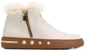 Baldinini fur trim ankle boots