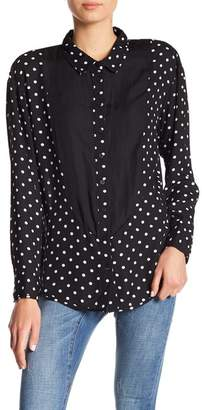 One Teaspoon Lexington Polka Dot Tuxedo Shirt