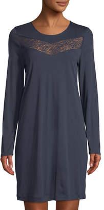 Hanro Liv Long-Sleeve Short Nightgown