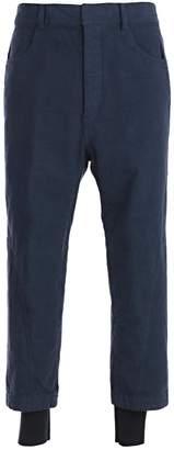 Haider Ackermann Layered Drop Crotch Trousers