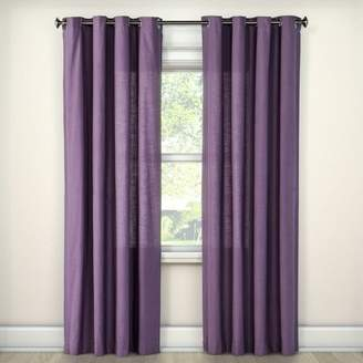 "Threshold Natural Solid Curtain Panel Plum (54""x108"