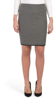 Petite Double Knit Pencil Skirt