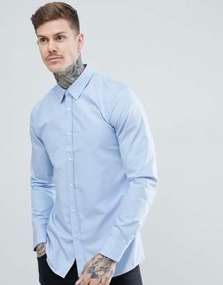 a04f0195b79b HUGO Elisha poplin extra slim fit shirt in light blue