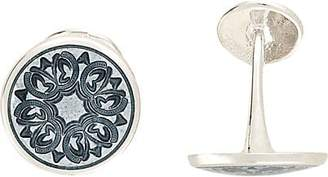 Barneys New York Men's Floral-Engraved Cufflinks - Gray
