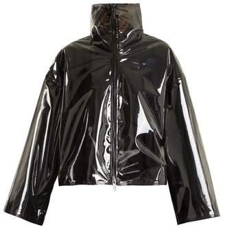 Valentino - Translucent Zip Through Jacket - Womens - Black