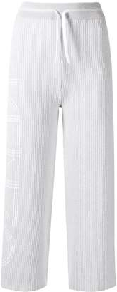 Kenzo cropped ribbed knit track trousers
