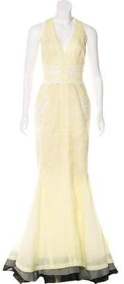 J. Mendel Sleeveless Lace Gown
