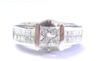 Platinum Diamond Tension Setting Engagement Ring