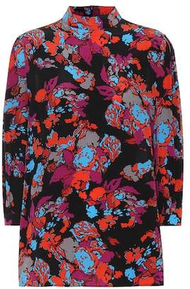 Givenchy Printed silk top